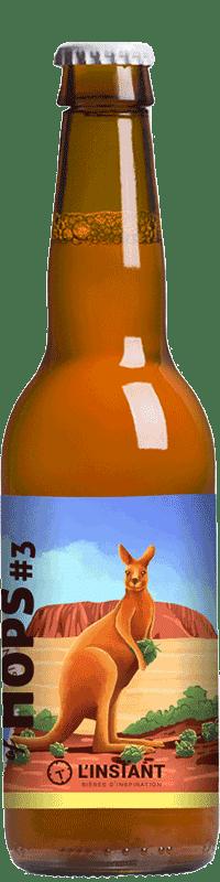 Bouteille de bière artisanale World of Hops 3 Brasserie L'Instant