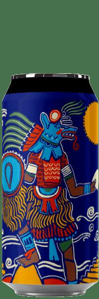 Canette de bière artisanale Nezahualcoyotl Blanche houblonnée Brasserie Hoppy Road