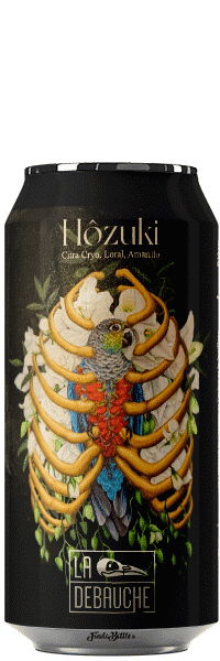 Canette de Bière HOZUKI IPA de la brasserie La Débauche
