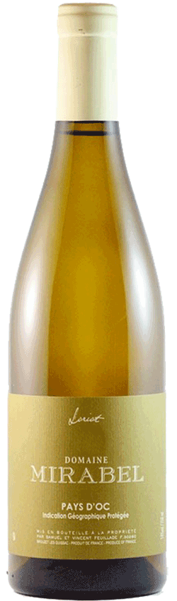 Bouteille de vin Le Loriot Pays d'Oc du Domaine Mirabel