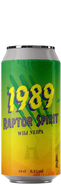 Canette de bière Raptor Spirit Neipa Brasserie 1989 Brewing