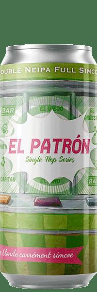 Canette de bière El Patron Double Neipa Simcoe Piggy Brewing Company