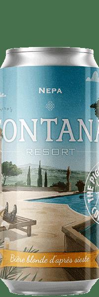 Canette de bière Fontana Resort NEPA Piggy Brewing Company
