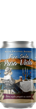 Canette de bière Free Solo Pura Vida Sour Cassis Piggy Brewing Company