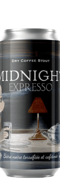 Canette de bière Midnight Expresso Dry coffee Stout Piggy Brewing Company
