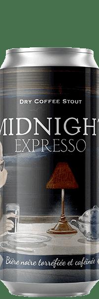 Canette de bière Midnight Expresso Dry coffee Stout Piggy Brewing Company