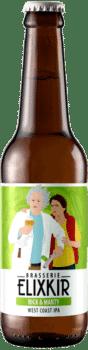 Bière Artisanale Rick & Marty West Coast IPA Brasserie Elixkir