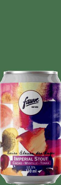 biere artisanale Baies Bleues des Anges Imperial Stout brasserie fauve craft