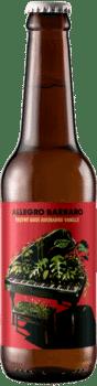 Bouteille de bière artisanale Allegro Barbaro Gose Rhubarbe Brasserie Hoppy Road