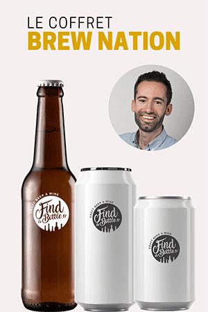 Bouteilles et canettes de bière du coffret la sélection de Luca