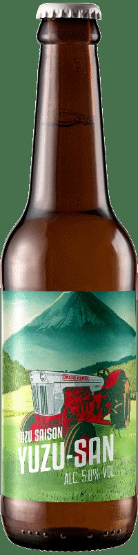 Bouteille de bière Saison Yuzu San brasserie du Grand Paris