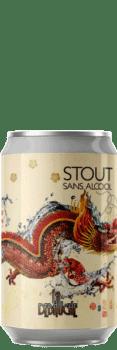 Canette de Stout sans alcool de la brasserie La Débauche