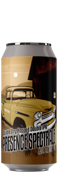 Canette de Bièreprésence spectrale double ipa dipa brasserie du Grand Paris