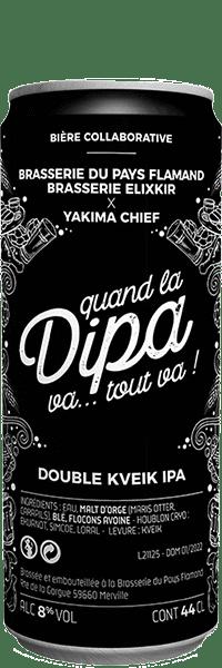 Bière Artisanale DIPA KVEIK DOUBLE IPA Brasserie Elixkir