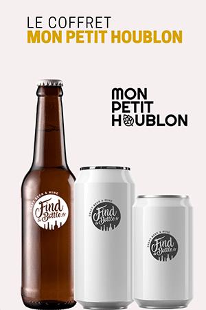Bouteilles et canettes de bière du coffret la sélection de Mon Petit Houblon