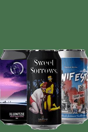 Coffret bières Can DOUBLE triple IPA Brasseries artisanales françaises