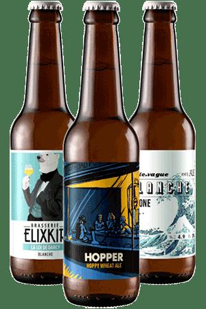 Coffret bières blanches Brasseries artisanales françaises