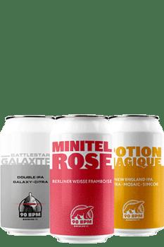 Coffret Canettes nouveautés bières artisanales Brasserie 90 Bpm Brewing co