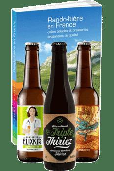 Coffret de bières artisanales et livre Rando-bière