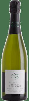 Bouteille de Crémant de Bourgogne Blanc de Blancs Ruban Vert du Domaine Deliance
