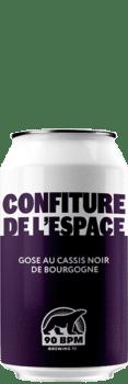 Bière confiture de l'espace gose cassis brasserie 90 BPM