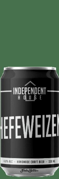 Canette de bière Hefeweizen Brasserie Independent House
