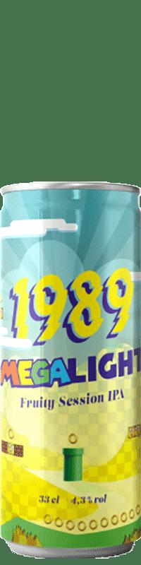 Canette de bière Megalight Session IPA Brasserie 1989 Brewing