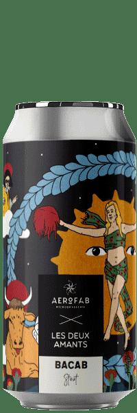 Canette de bière Bacab Stout brasserie aerofab