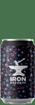 Canette de bière Imperial Sour Cassis Vanille Brasserie Iron