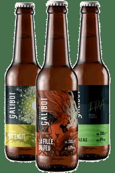 Box de bières artisanales Brasserie Galibot