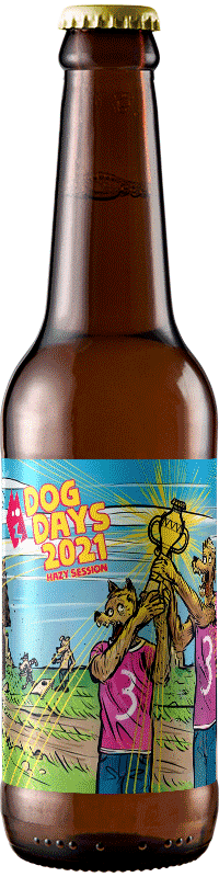Bouteille de bière artisanale dog days 2021 Brasserie 3ienchs