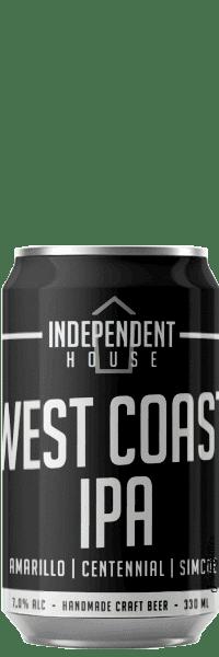 Canette de bière West Coast Brasserie Independent House